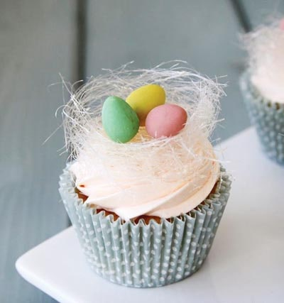 Easter Rose and Orange Cupcake