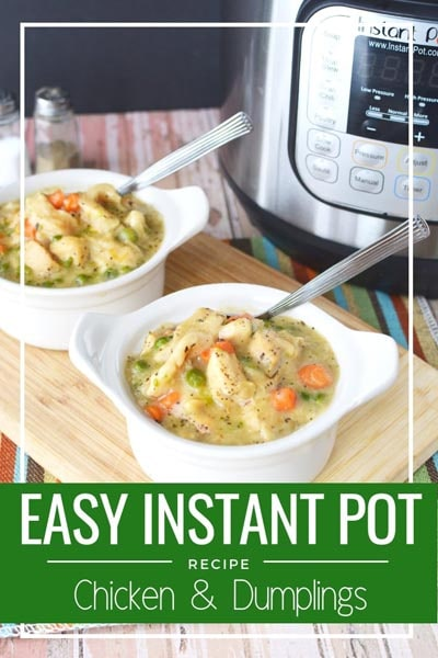 Easy Instant Pot Chicken & Dumplings