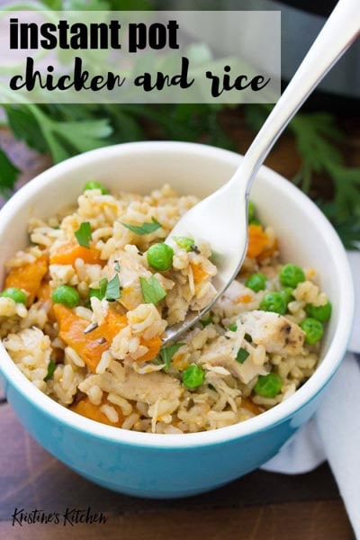 Easy Instant Pot Chicken and Rice