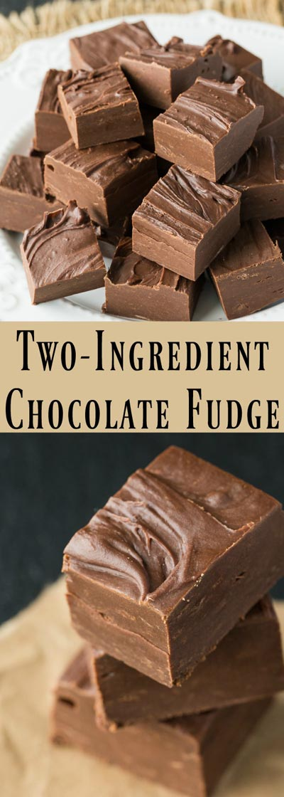 Fantastic Fudge Recipes: Foolproof Two-Ingredient Chocolate Fudge