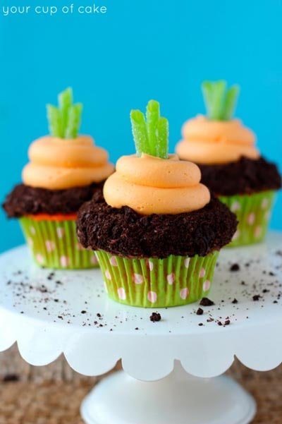 Easter Cupcake Ideas: Garden Carrot Cupcakes