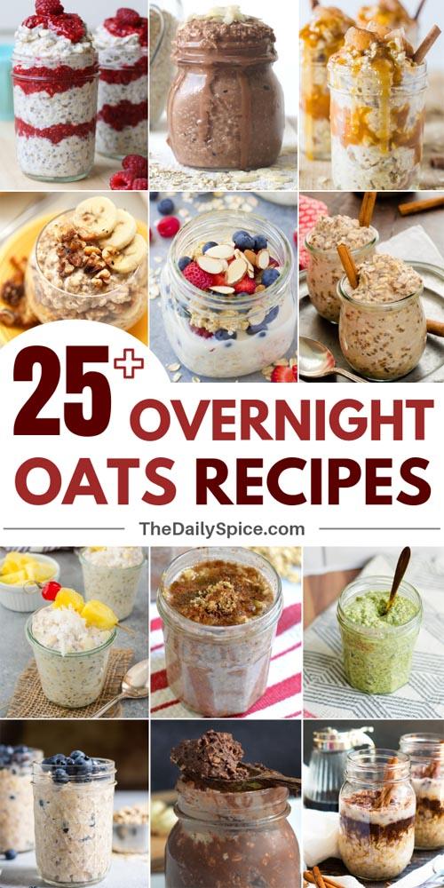 Healthy Overnight Oats Recipes
