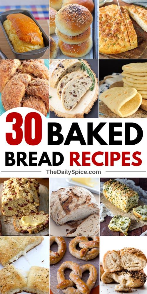 Homemade Baked Bread Recipes