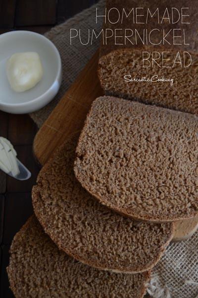 Homemade Baked Bread Recipes: Homemade Pumpernickel Bread