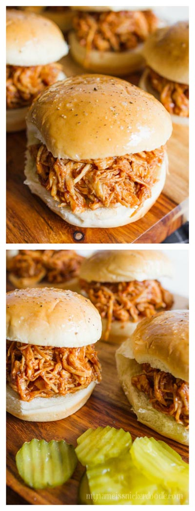Chicken Instant Pot Recipes: Instant Pot BBQ Chicken Sliders