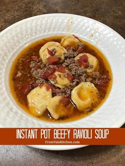 Instant Pot Beefy Ravioli Soup Recipe