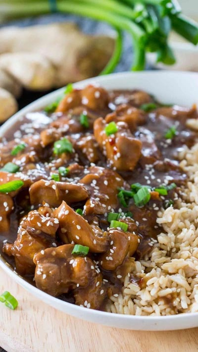 Instant Pot Garlic Sesame Chicken