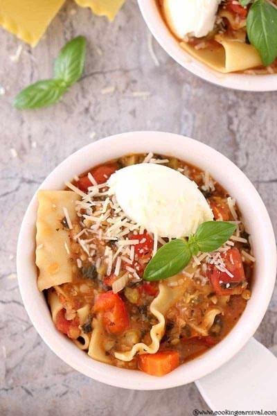 Instant Pot Lasagna Soup