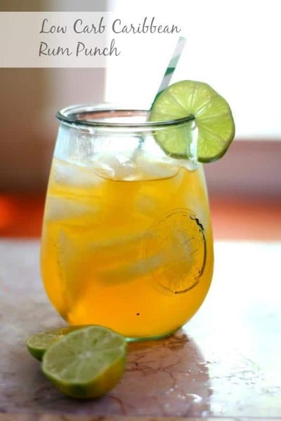 Keto Cocktails: Low Carb Caribbean Rum Punch Cocktail