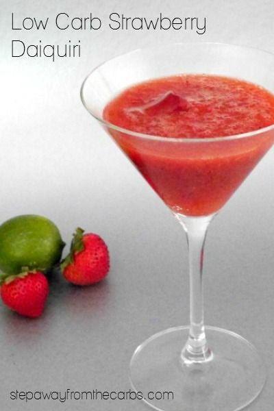 Keto Cocktails: Low Carb Strawberry Daiquiri