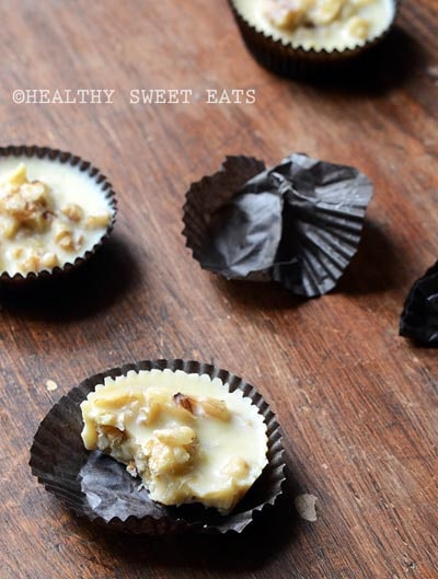 Keto Fat Bombs: Low-carb White Chocolate Butter Pecan Candies