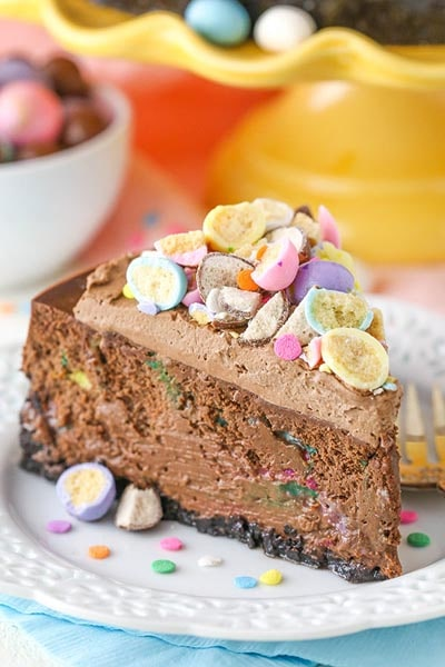 Easter desserts and treats: Malted Easter Egg Chocolate Cheesecake
