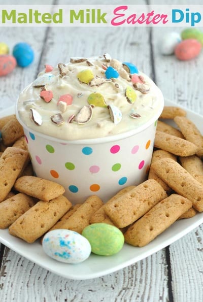 Easter desserts and treats: Malted Milk Easter Dip