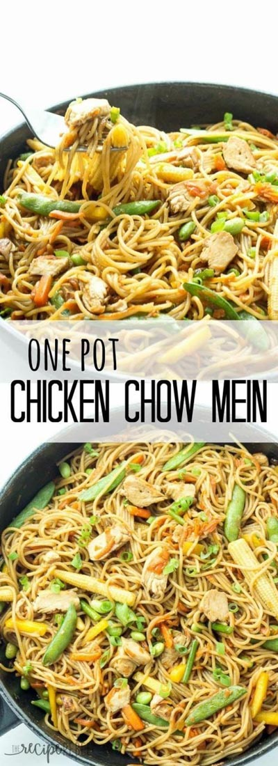 Chicken Instant Pot Recipes: One Pot Chicken Chow Mein