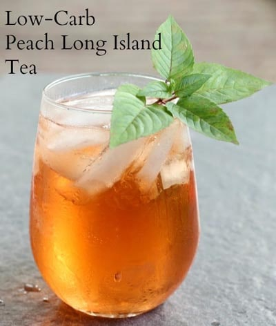 Keto Cocktails: Peach Long Island