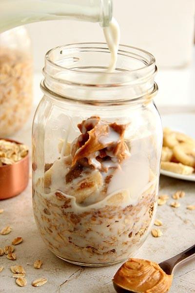 Peanut Butter Banana Overnight Oats Recipe