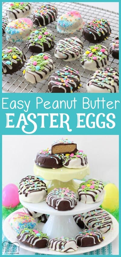 Easter desserts and treats: Peanut Butter Easter Eggs