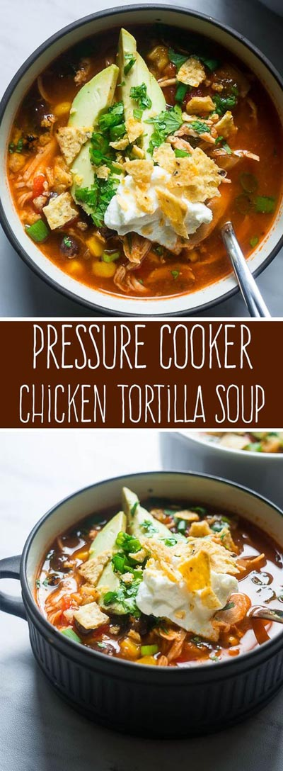 Chicken Instant Pot Recipes: Pressure Cooker Chicken Tortilla Soup