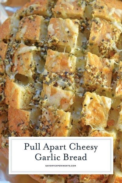 Homemade Baked Bread Recipes: Pull Apart Cheesy Garlic Bread