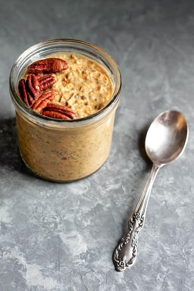 Pumpkin Pie Overnight Oats with Chia