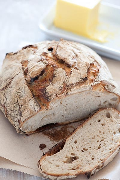 Homemade Baked Bread Recipes: Rustic Homemade Sourdough Bread