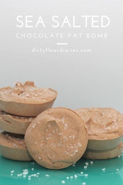 Keto Fat Bombs: Sea Salted Chocolate Fat Bomb