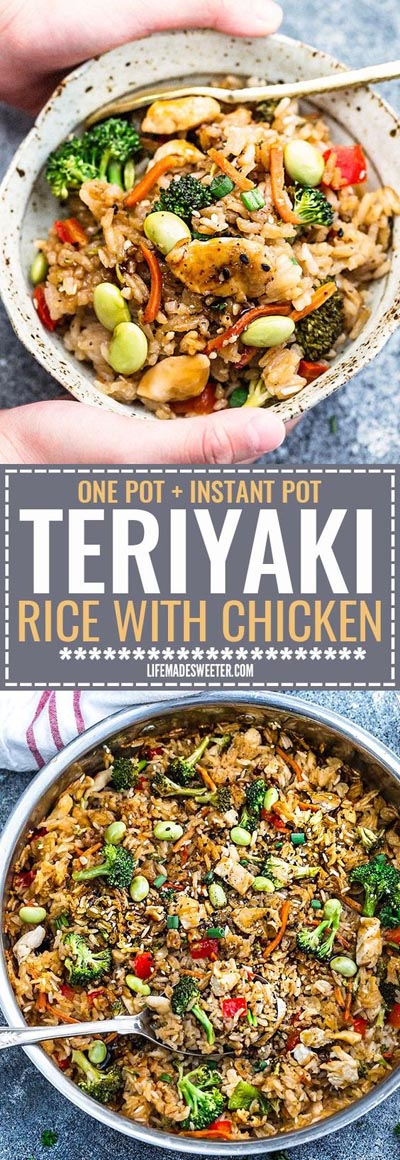 Chicken Instant Pot Recipes: Teriyaki Rice with Chicken and Vegetables