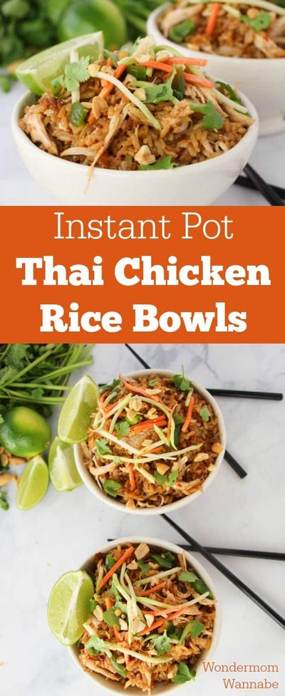 Chicken Instant Pot Recipes: Thai Chicken Rice Bowls
