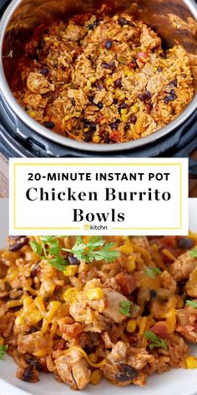 Chicken Instant Pot Recipes: Weeknight Chicken and Rice Burrito Bowls