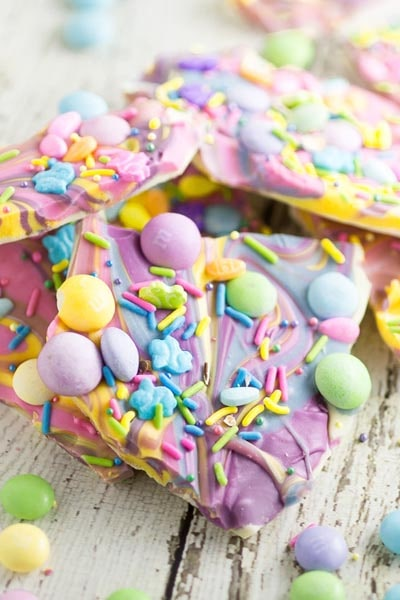 Easter desserts and treats: White Chocolate Easter Bark