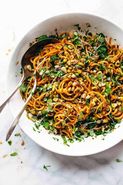 Spiralizer Recipes: Chipotle Sweet Potato Noodle Salad