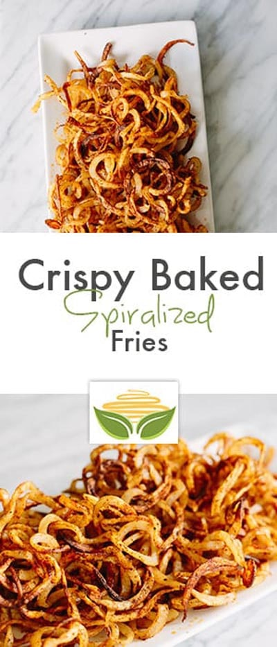 Spiralizer Recipes: Crispy Baked Spiralized Fries