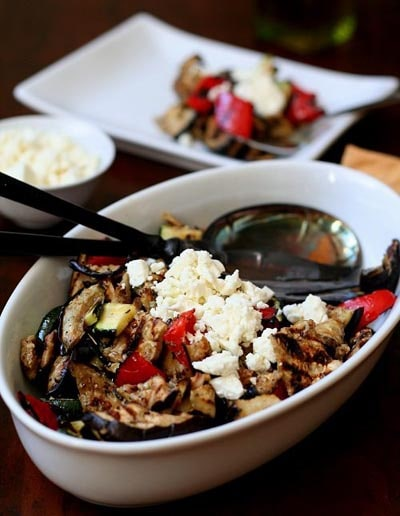 Tasty Keto BBQ Recipes: Grilled Vegetable Salad With Olive Oil And Feta