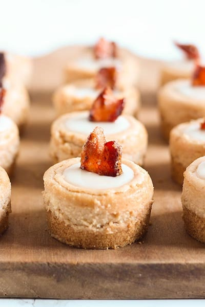 Mini Cheesecake Recipes: Maple Bacon Mini Cheesecakes