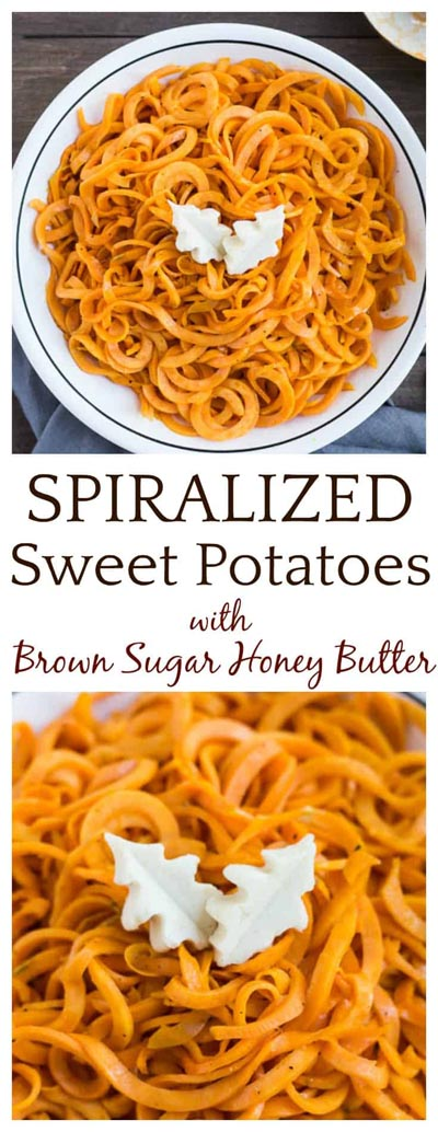 Spiralizer Recipes: Spiralized Sweet Potatoes With Brown Sugar Honey Butter