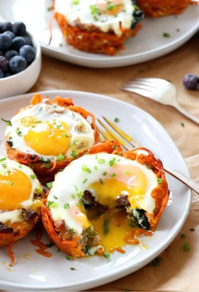 Spiralizer Recipes: Sweet Potato Breakfast Nests