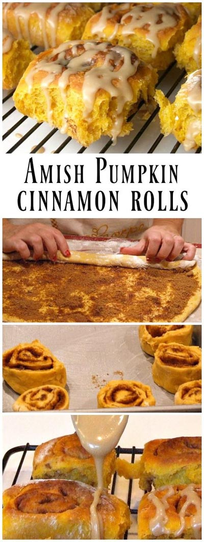 Cinnamon Roll Dessert Recipes: Amish Pumpkin Cinnamon Rolls