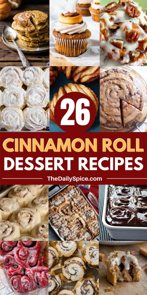 Cinnamon Roll Dessert Recipes