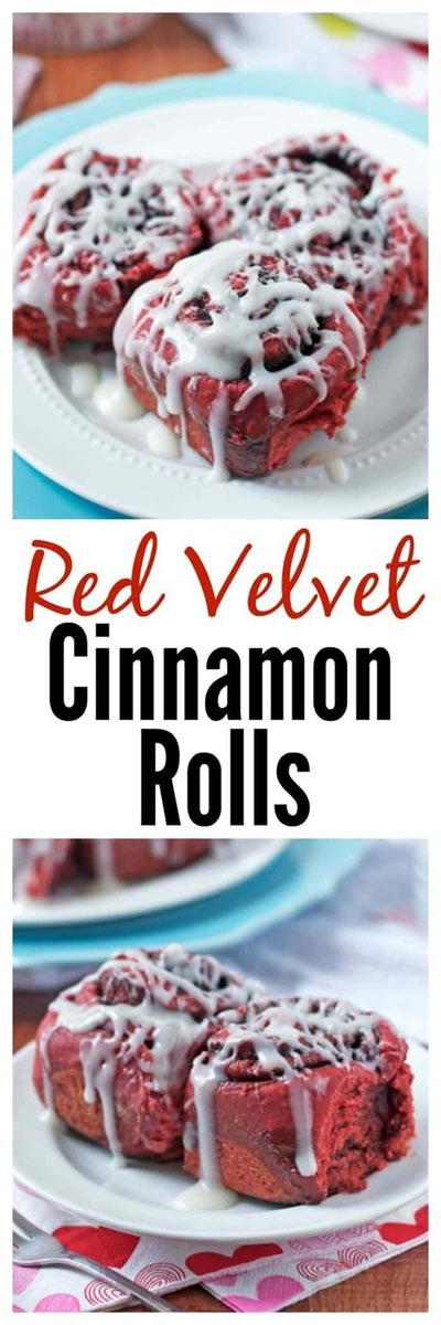 Overnight Red Velvet Cinnamon Rolls