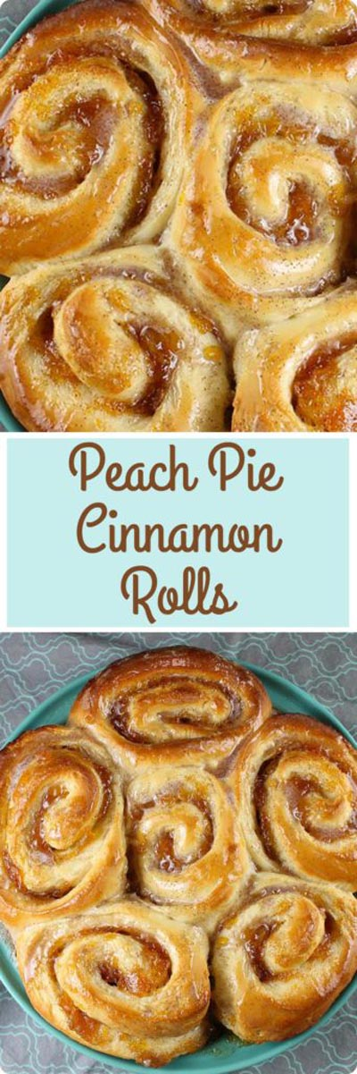 Peach Pie Cinnamon Rolls