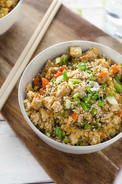 Vegetarian Keto Recipes: Easy Vegan Cauliflower Fried Rice