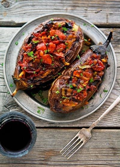 Vegetarian Keto Recipes: Stuffed Eggplant