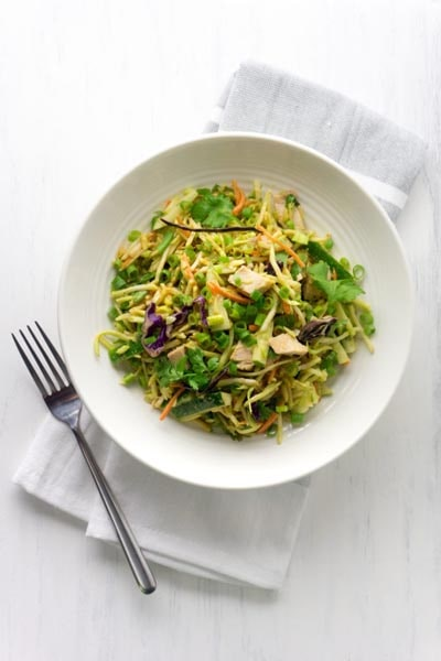 Filling Keto Salad Recipes: Thai Peanut Keto Chicken Salad