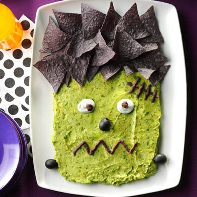 Fun Halloween Snack Ideas and Halloween Treats: Frankenguac