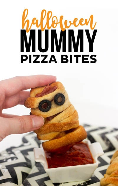 Fun Halloween Snack Ideas and Halloween Treats: Halloween Mummy Pizza Bites