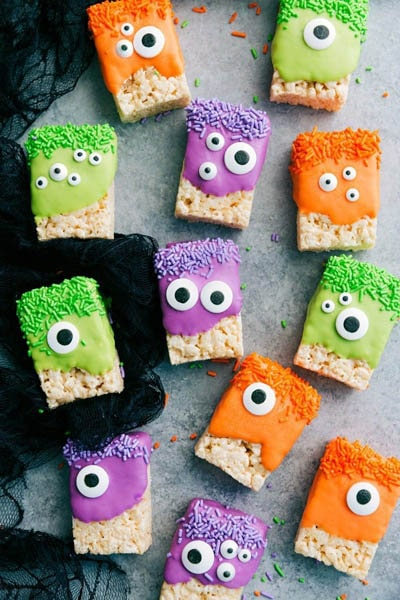 Fun Halloween Snack Ideas and Halloween Treats: Monster Rice Krispies