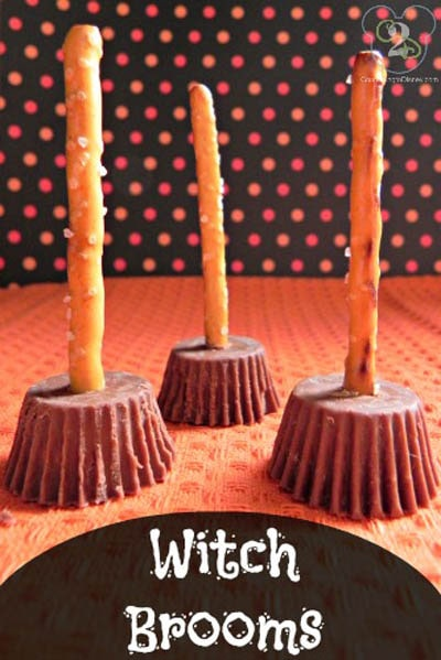 Fun Halloween Snack Ideas and Halloween Treats: Witch Brooms