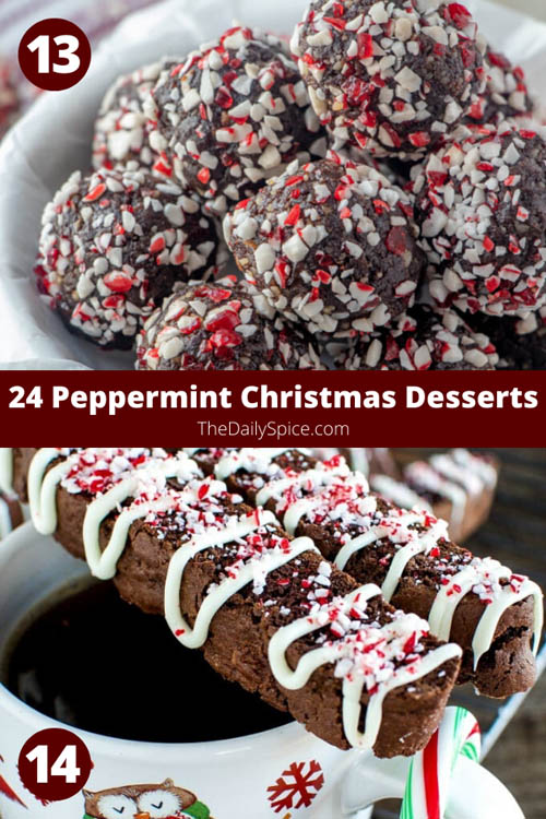 Peppermint Christmas Desserts perfect for the holidays