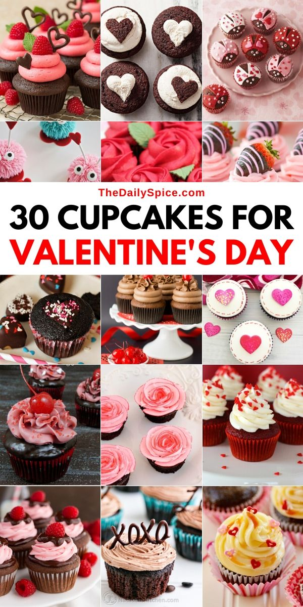 30 Valentines Day Cupcakes Recipes