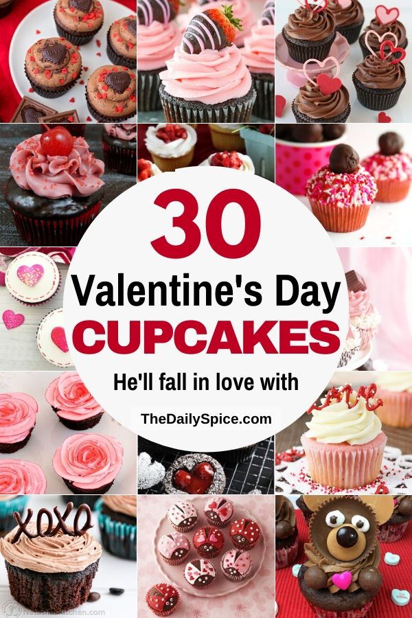 30 Valentine S Day Cupcakes You Ll Fall In Love With The